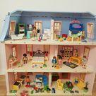 playmobil puppenhaus mit Einrichtung 5303 5306 5307 5308 5336 5309 3207 Haus top