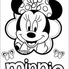 Minnie Mouse Kleurplaat 47
