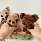Chihuahua Puppy PDF Crochet pattern ENGLISH amigurumi baby toy cotton diy tutorial