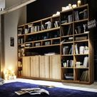 Wohnwände in Buche und Kernbuche