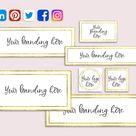 Social Media Banner Bundle, Facebook Banner, Pinterest, LinkedIn, Twitter, Editable, Custom Branding, Add Logo, DIY Template, CJ100-01-BNR1