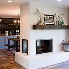 15 Painted Brick Fireplaces That Radiate Coziness