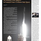 In Historic First SpaceX  to Launch Four Civilians Into Space
