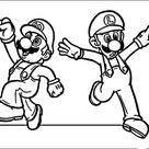 Kleurplaat Printen Mario Bros 28