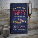 Saltwater Taffy Sign, Taffy Candy Sign, Candy Shops, Candy Lover Decor, Wooden Sale Decor, Wooden Wall Decor - Wooden Old Sign