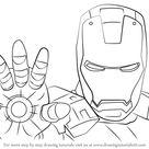 How to Draw Iron Man Face - DrawingTutorials101.com