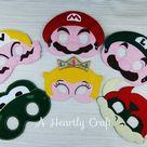 Mario Mask  Mario Party Set of 6  Party Masks  Luigi | Etsy