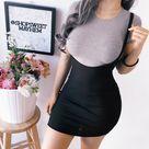 Sling bag hip dress - Black / L