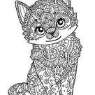 Kitten Coloring Pages Free