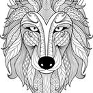 Mindfulness Coloring Wolf