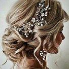 Bridal Hair Vine Wedding Rose Gold Hair Piece Pearl Silver   Etsy