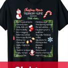 Hallmark Christmas Movie Drinking Game Shirt for Adults, Christmas Movie Night Party Ideas
