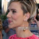 Actress Scarlett Johansson, earring detail, attends the 2015 MTV...