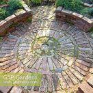 Circular brick patio...  stock photo by Elke Borkowski, Image: 0311910