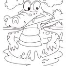 Alligator on a swim drill coloring pages | Download Free Alligator on a swim drill coloring pages for kids