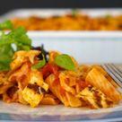 Halloumi, Tomato and Basil Pasta Bake   Gluten Free   Sparkles in the Everyday