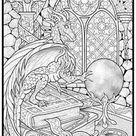 Colouring book page