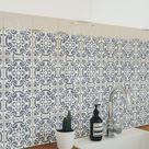 GRACIA   Portuguese Tile Stencil   Spanish Tile Stencil  Reusable Tile Stencils   Wall And Floor Stencils  StencilsLAB  Tile Stencils