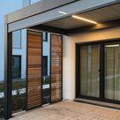 Terrassenüberdachung mit Lamellen Sichtschutz für ein Einfamilienhaus Olching   Jalousien HUBER GmbH   Mein Lebensgefühl