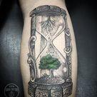 59 tatuagens fantásticas de ampulheta