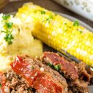 Traditional Meatloaf Recipe with Easy Sauce Topping
