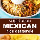 Healthy Vegetarian Mexican Rice Casserole - Countsofthenetherworld.com