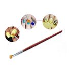 Women Nail Art Brush Pen Wood Handle Painting Drawing DIY Manicure Beauty Tool   Wine