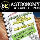 Astronomy and Space Notes, PowerPoint & Test ~ EDITABLE   Distance Learning