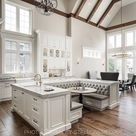 Vaulted ceilings with wooden beams