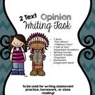 CCSS Aligned 2 Text Opinion Writing Task