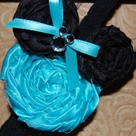 Rolled Fabric Flowers