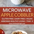 Gluten-Free Apple Cobbler in a Mug: Vegan No Added Sugar