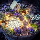 Ausgefallene Gartendeko selber machen-101 Beispiele und Upcycling Ideen