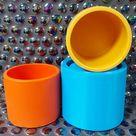 Plain candle vessel,  plant pot silicone mould , jesmonite mould , concrete and plaster mould