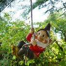 Rope Hanging Gnome Garden Ornament C