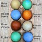 Ostereier natürlich selber färben