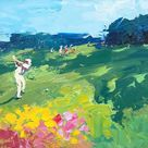 Golf Painting on Canvas, Original Painting, Golf Art, Landscape Painting, Sport Wall Art, Room Wall Art, Small Painting, Gift for Golfer