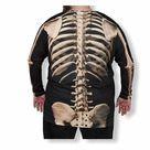 Faux Real Men's Halloween 3D Skeleton Photo-Realis