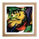 """Gerahmtes Poster """"Der Tiger"""" von Franz Marc, Kunstdruck"""