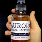 NEW Aurora Face Spray - a vegan + cruelty-free soothing facial mist with aloe vera + floral extracts