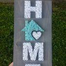 Kleine Home String Art, Haus ist, wo das Herz ist, Wohnkultur, Home Zeichen, benutzerdefinierte Dekor