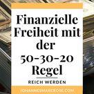 50-30-20: Mit dieser Regel bekommen Sie Ihre Finanzen leicht in den Griff