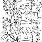 Kleurplaat van Pasen