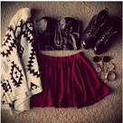 Red Skirt Outfits