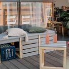 Balkonbank mit Stauraum selber bauen - DIY Idea