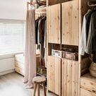 Opbergoplossing voor een kleine slaapkamer: de open kledingkast | Rachel | vtwonen