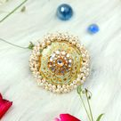 Chunky Pearl Statement Finger Ring with Meenakari Detailing