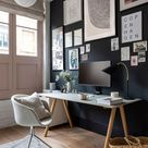 A cool, minimalist home office in a Shoreditch loft apartment