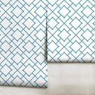 Jacaranda Blue Trellis Repositionable Peel 'n Stick | Etsy
