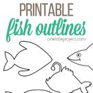 Free Printable Fish Outline Pages   Fish Templates - One Little Project